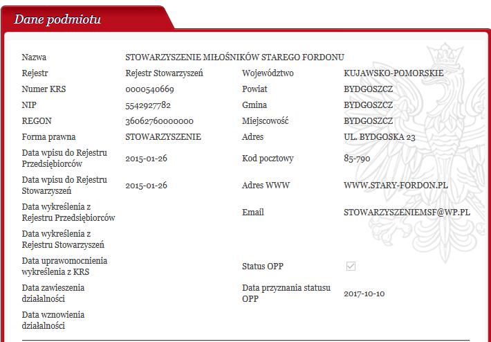 SMSF Otrzymało Status Organizacji Pożytku Publicznego